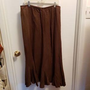 J. Jill brown flared skirt-size M